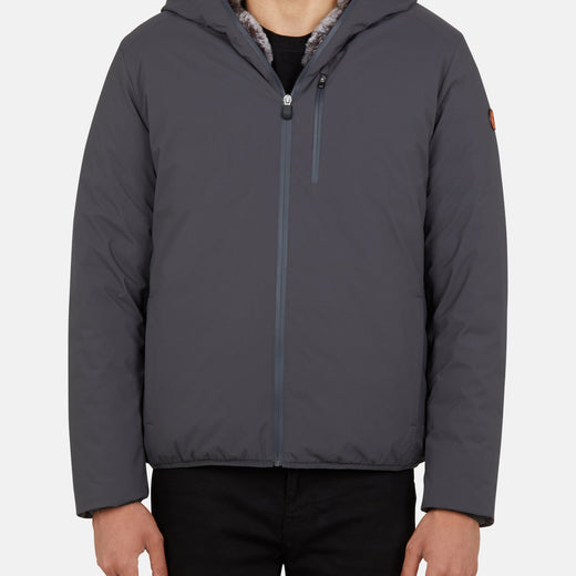 Mens Hooded Jacket in MATT