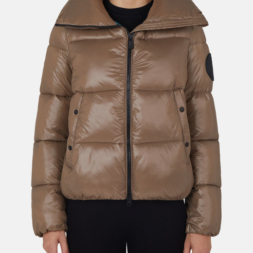 Puffer Jacket in LUCK Stand up Collar