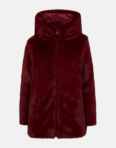 Save The Duck Women's FURY Reversible Faux Fur Hooded Coat