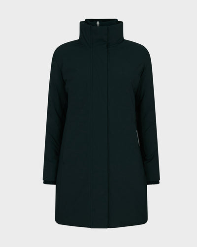 Womens MATT Winter Coat in Green Black