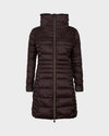 Womens IRIS Winter Coat in Burgundy Black