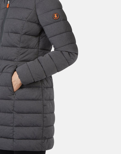 Save The Duck Womens Hooded Coat in ANGY
