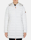 Save The Duck Women's SOLD Stretch Coat with Detachable Hood