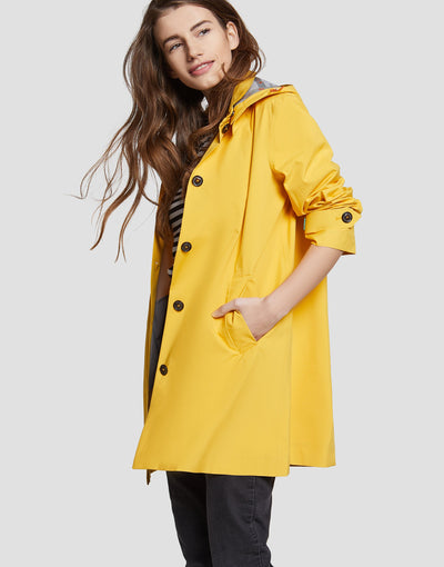 Save The Duck Womens Coat-S4225W-GRIN6-01057 Aurora Yellow