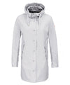 The RAIN Hooded Raincoat in Ice Grey