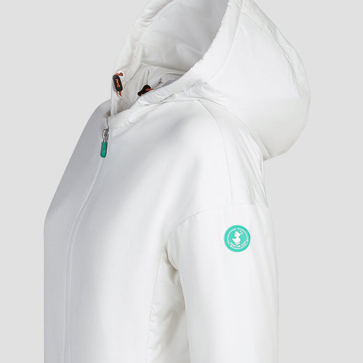 Save The Duck Womens Coat-S4235W-FEEL6-02 Off White