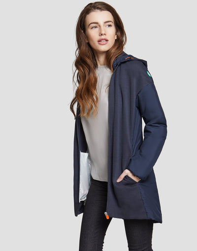 Save The Duck Womens Coat-S4235W-FEEL6-15 Mid Grey