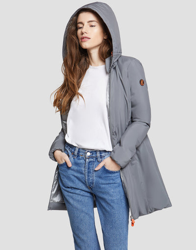 Save The Duck Womens Coat-S4235W-MATY6-15 Mid Grey
