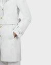 Womens GRIN Coat in White