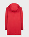 Womens BARK Coat in Tomato Red