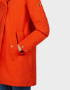 Womens BARK Coat in Tangerine Orange