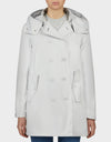 Womens BARK Coat in Coconut White