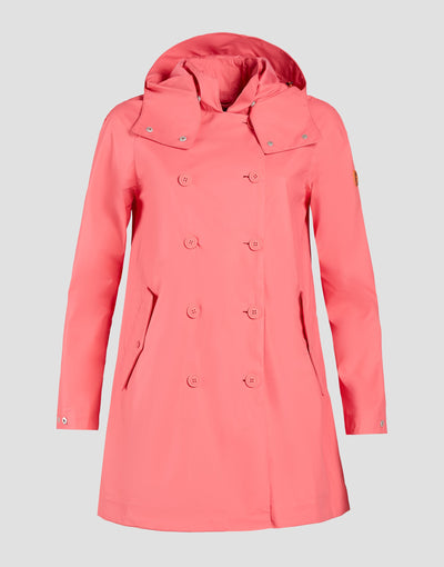 Save The Duck Womens Coat-S4312W-RAIN6-01056 Coral Pink