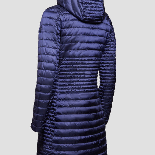 Womens IRIS Coat in Blue Black