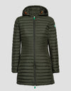 Women's RECY Hooded Coat in Midnight Blue