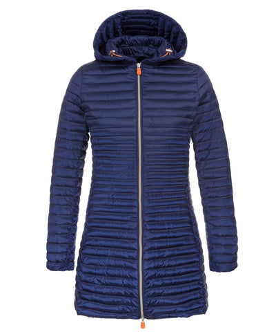 Women's Hooded Coat in Navy Blue