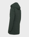 Womens SMEG Hooded Winter Coat in Green Black