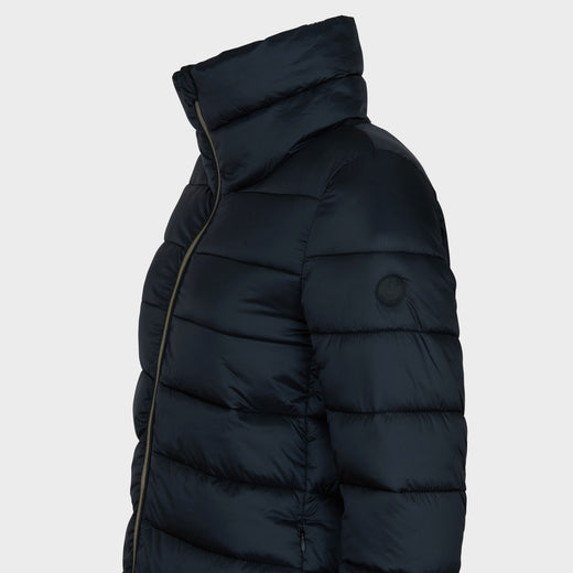 Women's IRIS Quilted Coat in Black