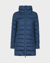 Womens IRIS Quilted Coat in Space Blue