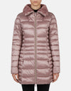 Save The Duck Women's IRIS Winter Stand Up Collar Coat with Faux Fur Lining