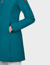 Womens MATY Hooded Coat in Seaweed Green