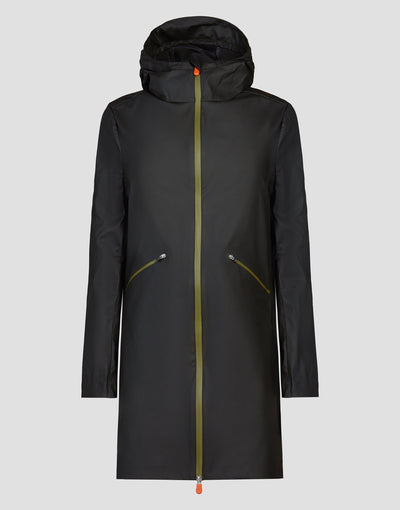 Womens RAIN Hooded Coat in Black