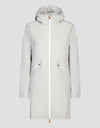 Womens RAIN Hooded Coat in Ice Grey