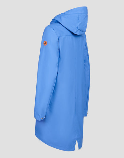 Save The Duck Womens Hooded Coat-S4428W-RAIN6-01060 Star Blue