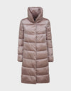 Womens IRIS Stand Up Collar Coat in Misty Rose