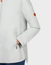 Womens BARK Hooded Coat in Coconut White