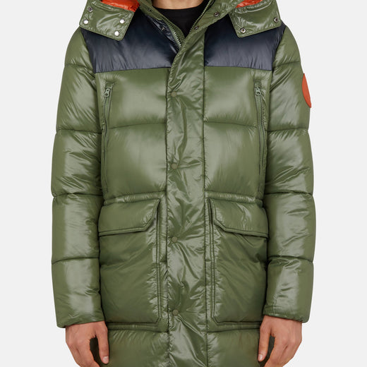 Mens Hooded Coat in LUCK