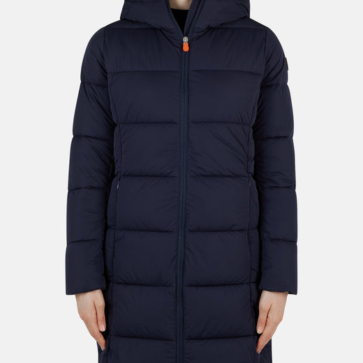 Womens Coat in SEAL with Adjustable Hood