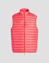 Men's GIGA Puffer Vest in Tomato Red