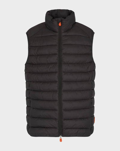 Mens GIGA Quilted Vest in Brown Black