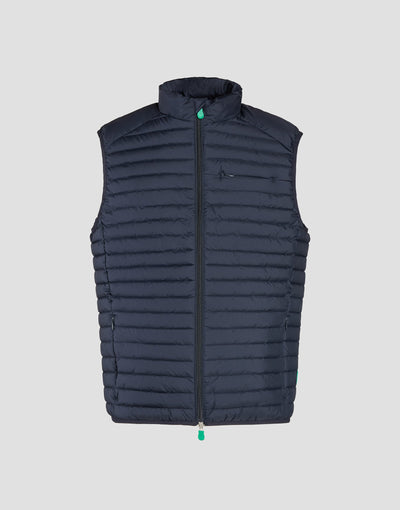 Save The Duck Mens Vest-S8394M-RECY6-146 Bleu Noir