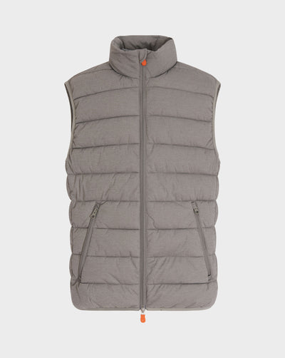 Men's Angy Vest in Fossil Brown Melange