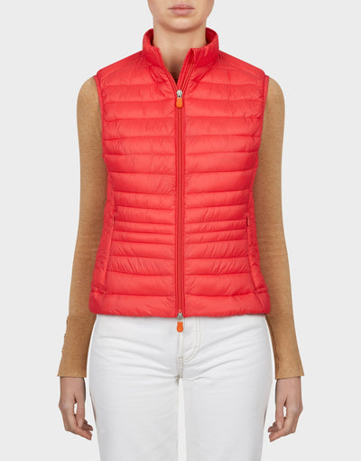 Womens GIGA Vest in Hibiscus Red