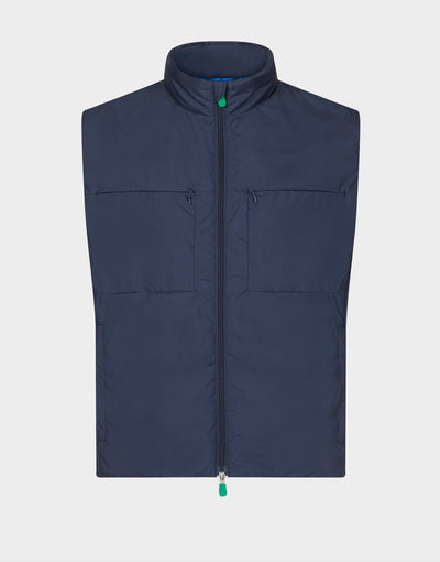 Mens RECY Vest in Navy Blue