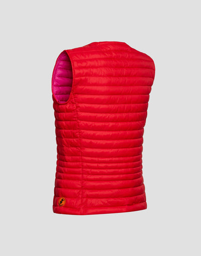 Save The Duck Womens Vest-S8544W-GIGA6-01057 Aurora Yellow