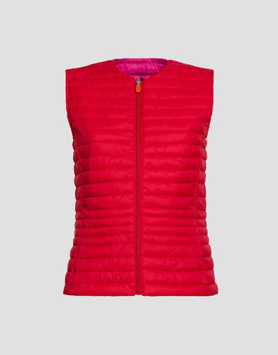 Save The Duck Womens Vest-S8544W-GIGA6-01064 Mud Green