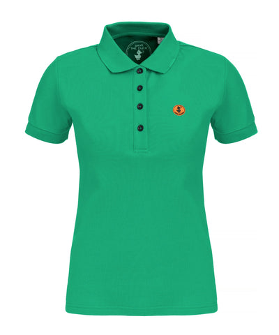 Womens Polo in Bright Green
