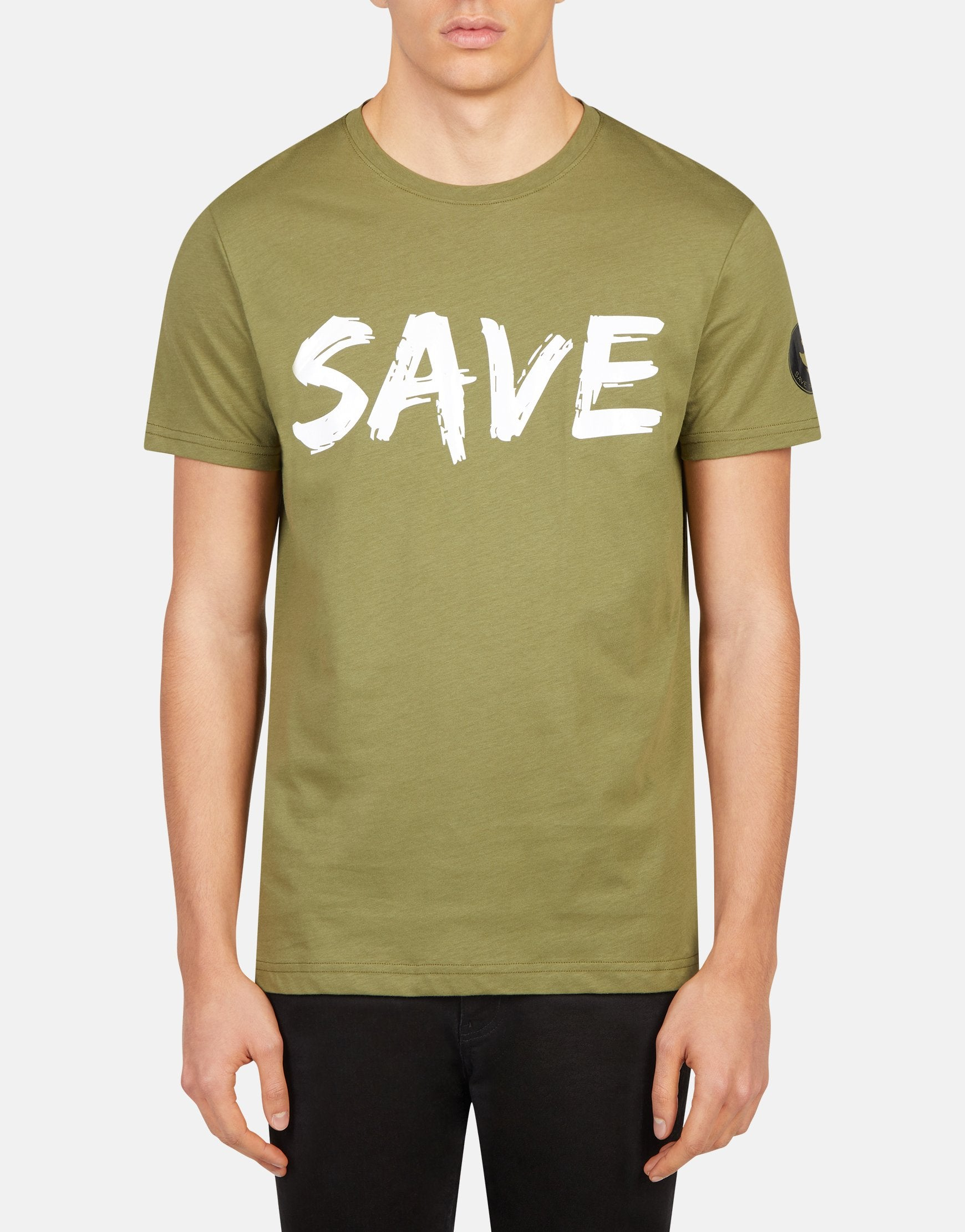 Save The Duck Mens JESY Front and Back Printed T-Shirt