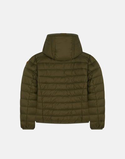 Boy's Hooded Puffer Jacket in GIGA