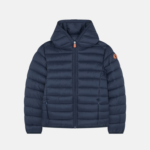 Boys Hooded Quilted Lightweight Jacket in GIGA