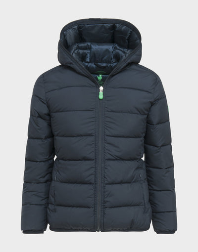 Boys RECY Hooded Jacket in Blue Black