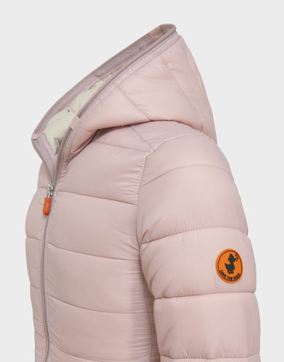 Girls GIGA Hooded Jacket in Blush Pink