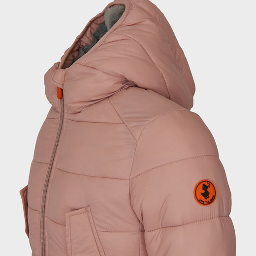 Girls GIGA Parka Winter Coat in Blush Pink