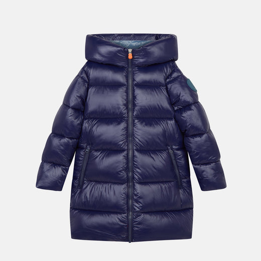 Girls Oversize Hooded Puffer Coat in LUCK