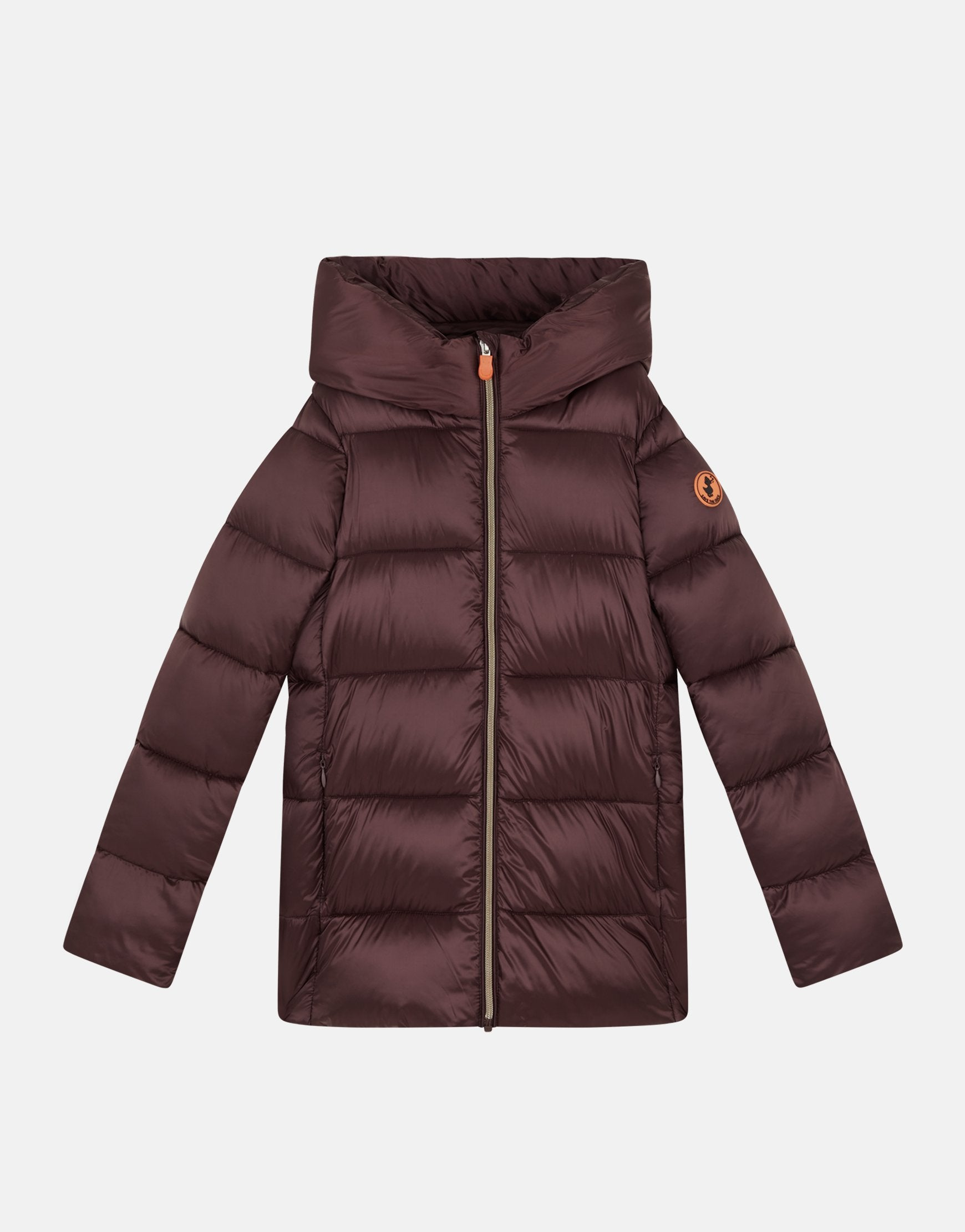 Girls Hooded Coat in IRIS Stand-up Collar