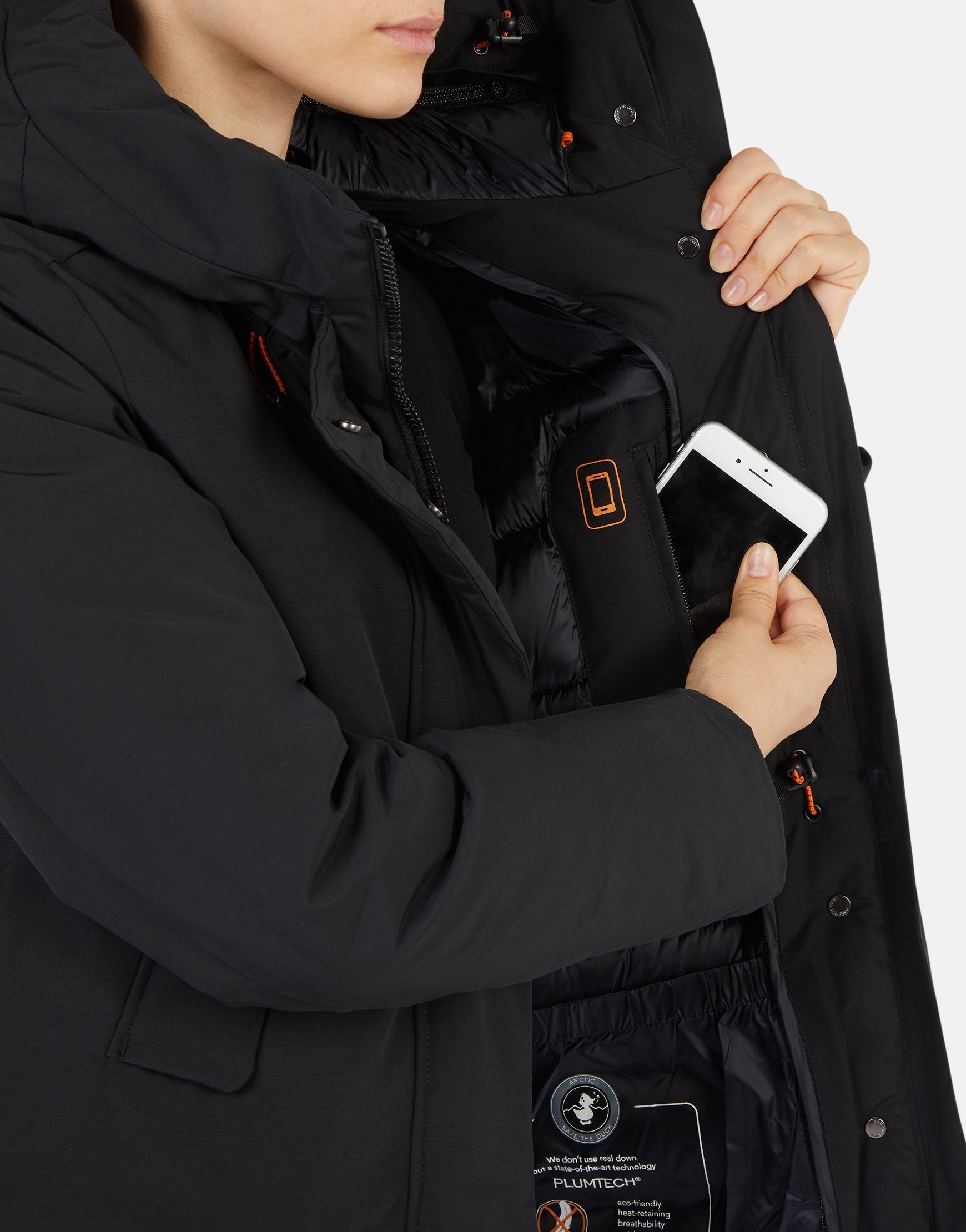 timeless design 478ae 2e052 Save The Duck Women's COPY Classic Winter Hooded Parka